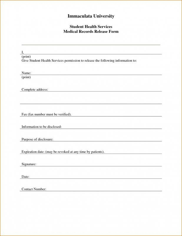 Medical Release form Template Free Printable Child Medical Consent form
