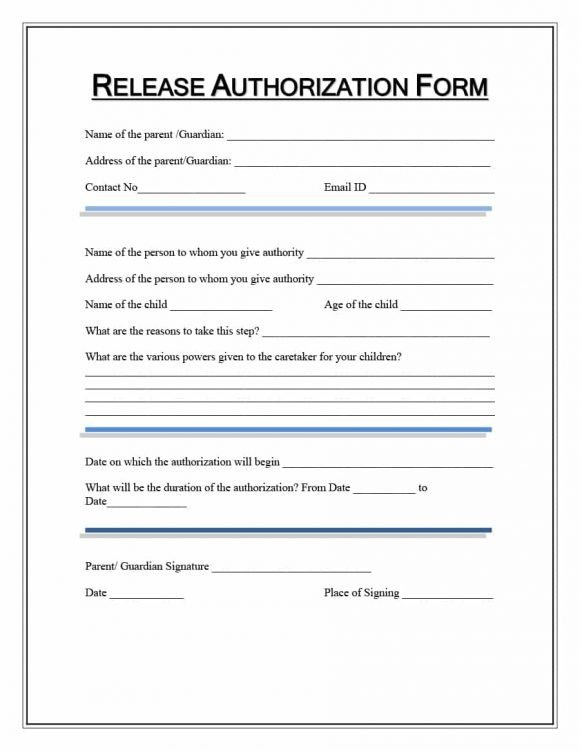 Medical Release forms Template 40 Medical Records Release form Release Of Information