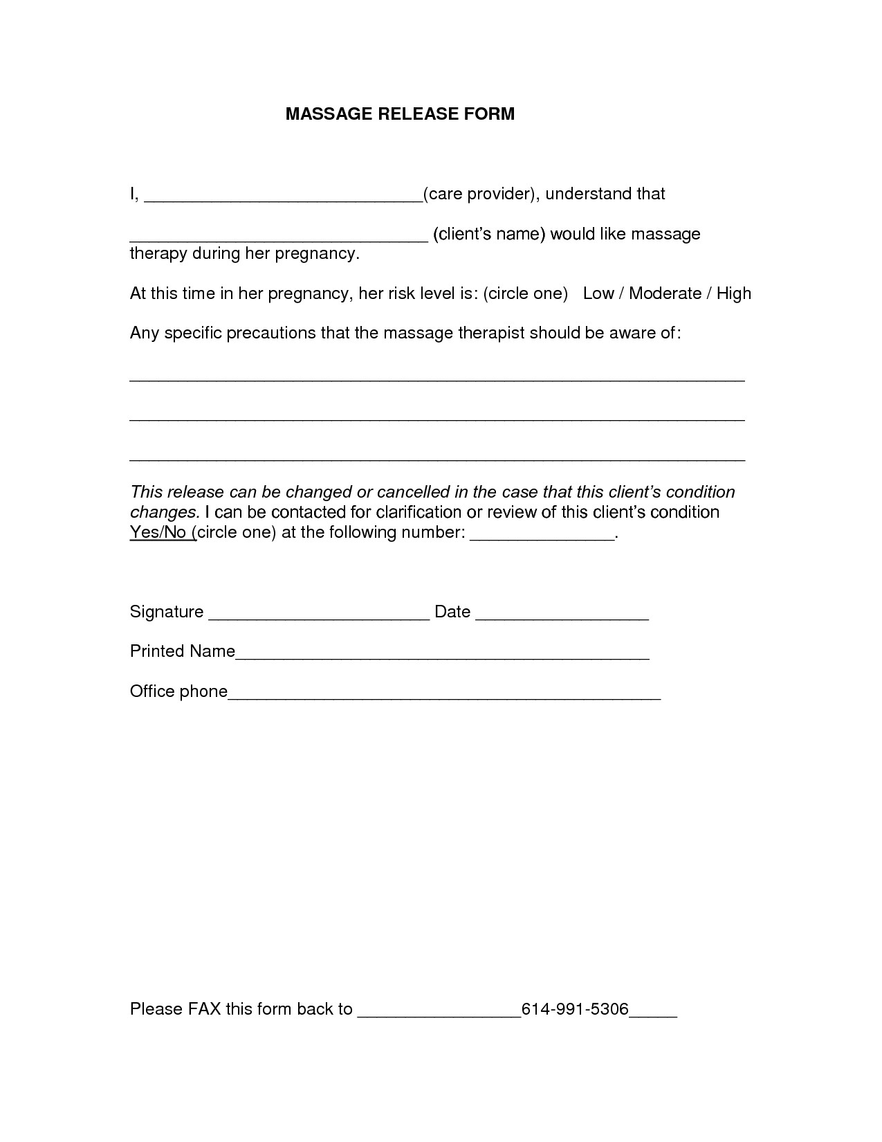 Medical Release forms Template Release form Template