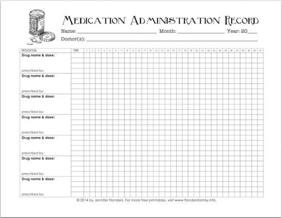 Medication Administration Record Template Excel 327 Best Images About Make