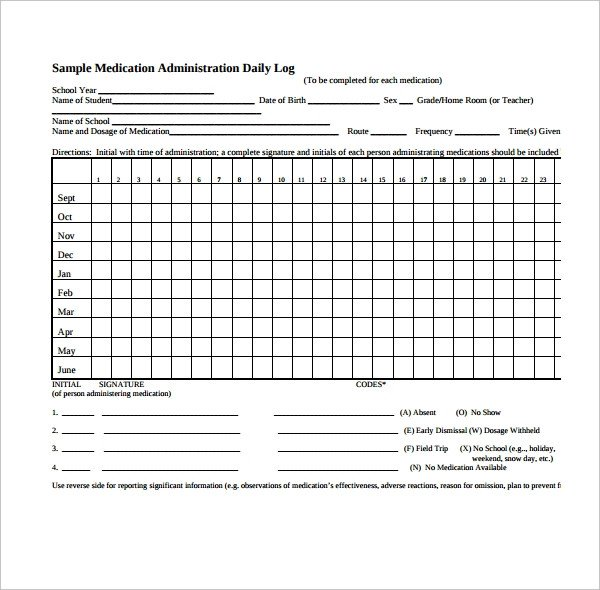 Medication Administration Record Template Pdf Daily Log Template – 09 Free Word Excel Pdf Documents