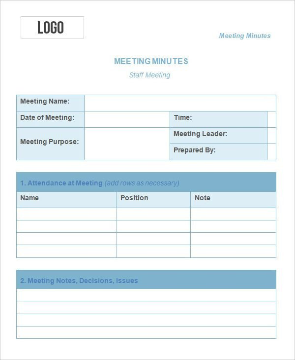 Meeting Minute Template Excel Meeting Minutes Templates