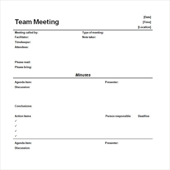 Meeting Minutes Template Word 16 Microsoft Word Minute Templates Free Download