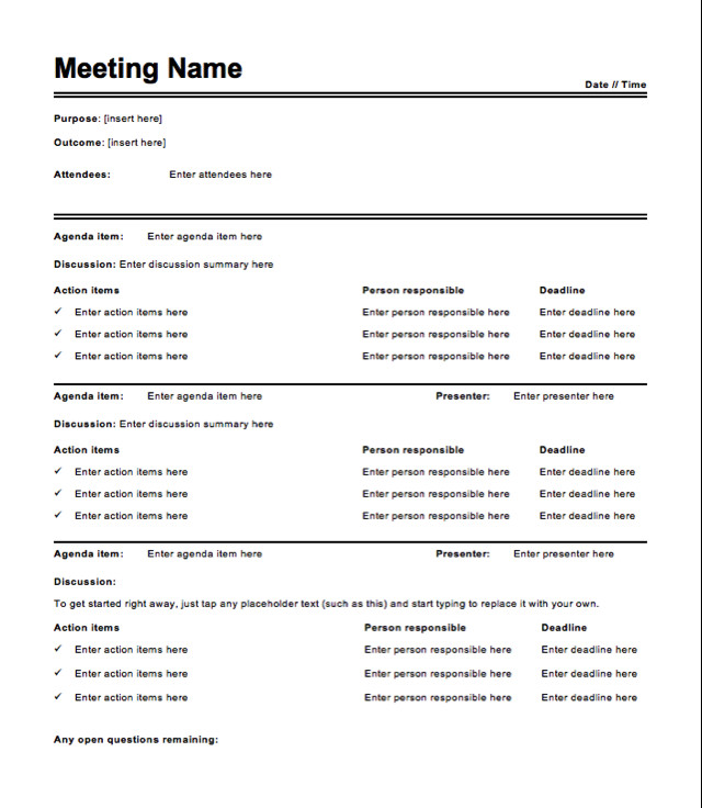 Meeting Minutes Template Word Free Meeting Minutes Template How to Write Meeting