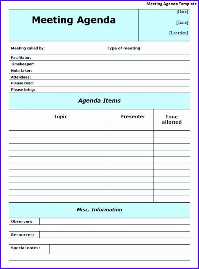 Meeting Notes Template Excel 14 Minutes Meeting Template Excel Exceltemplates