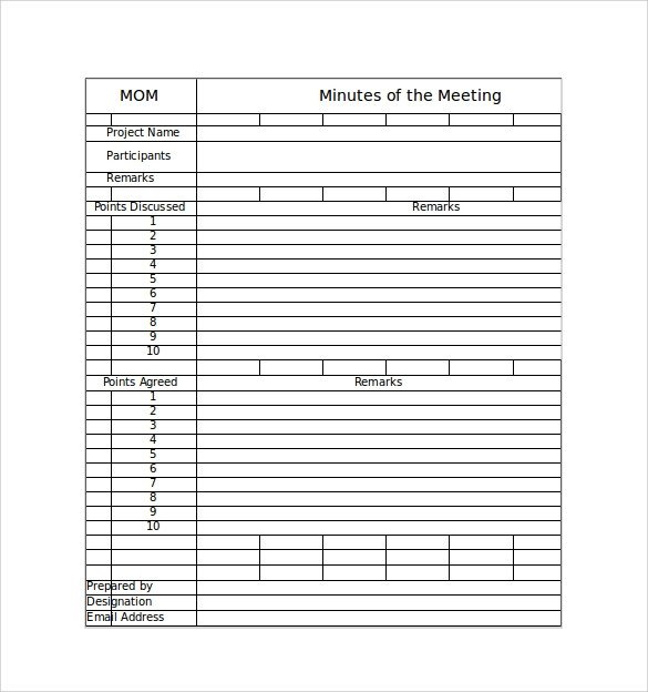 Meeting Notes Template Excel 44 Sample Meeting Minutes Template Google Docs Apple