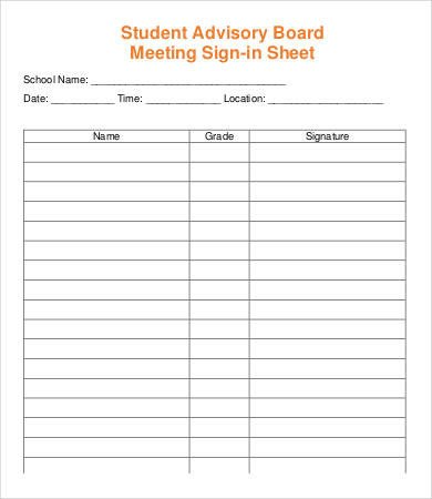 Meeting Sign In Sheet Meeting Sign In Sheet Template 13 Free Pdf Documents