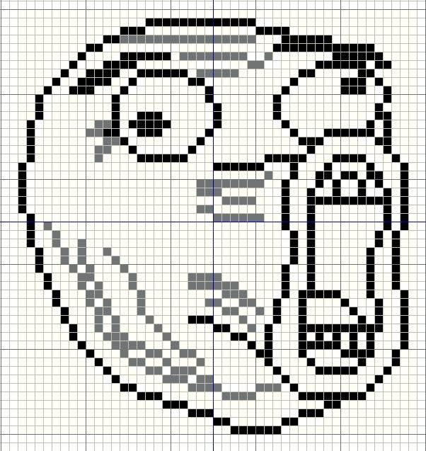 Meme Pixel Art Grid Buzy Bobbins Lol Guy Meme Cross Stitch Design
