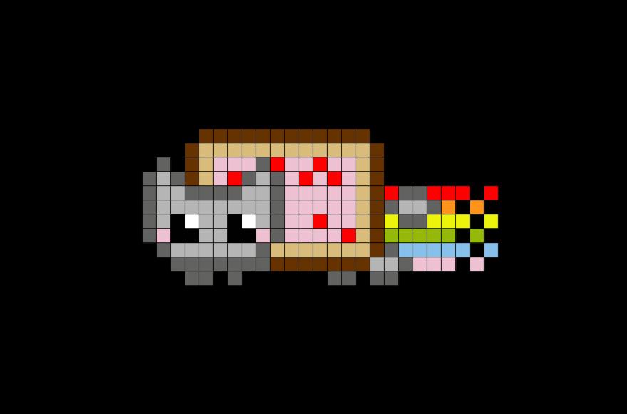 Meme Pixel Art Grid Nyan Cat Pixel Art – Brik