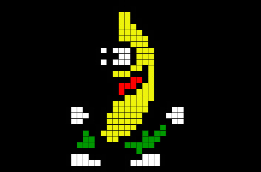 Meme Pixel Art Grid Peanut butter Jelly Time Pixel Art Banana – Brik
