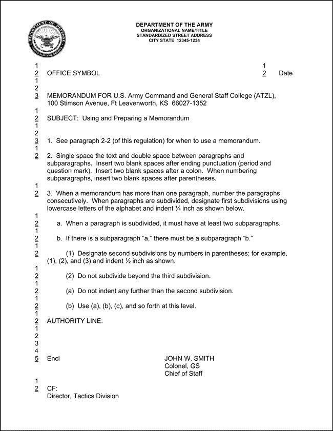 Memorandum for Record Army Best S Of Army Memorandum Template Word Example