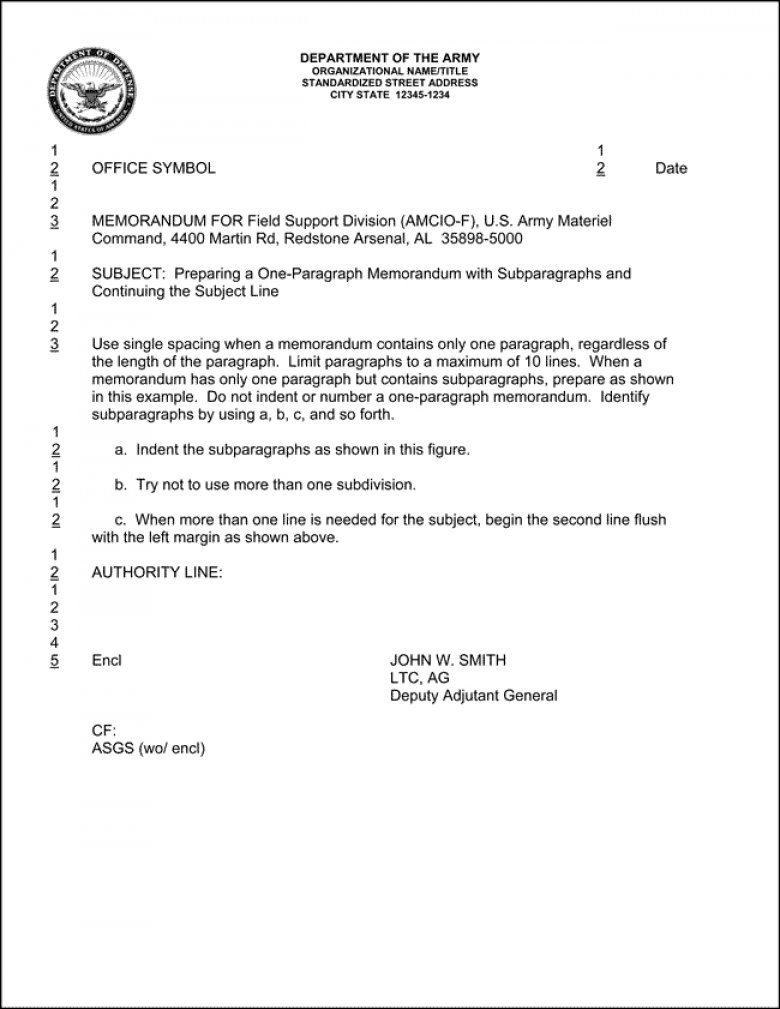 Memorandum for Record Template 20 Memorandum Of Record Template