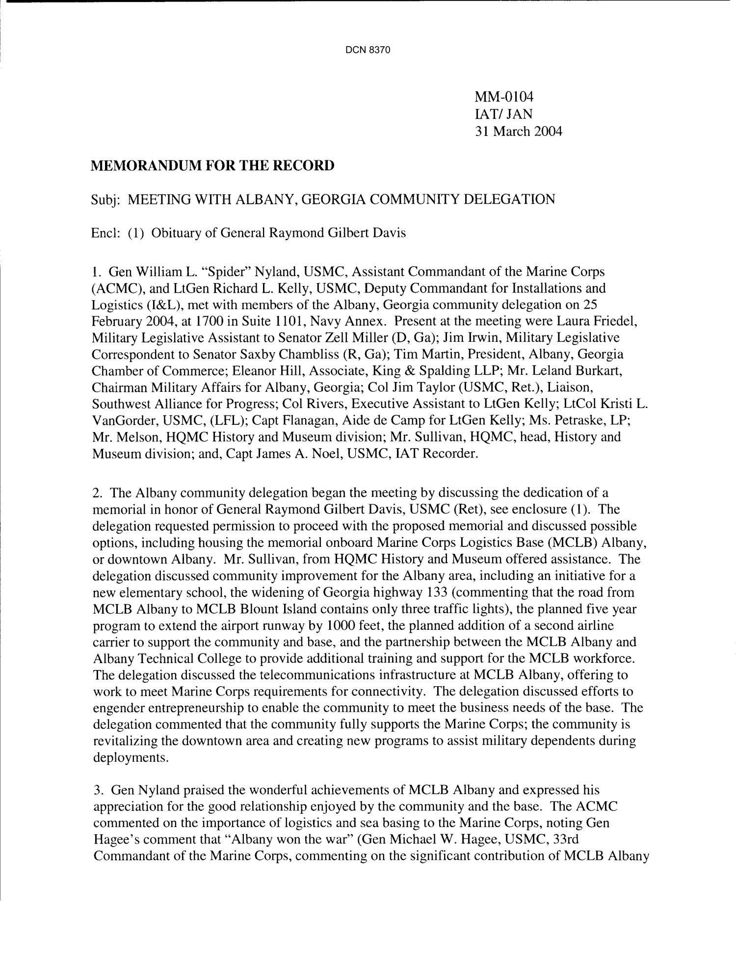 Memorandum for Record Template Department Of the Navy Memorandum for the Record
