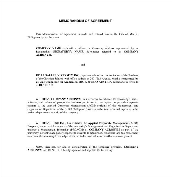 Memorandum Of Agreement Templates List Of Synonyms and Antonyms Of the Word Memorandum