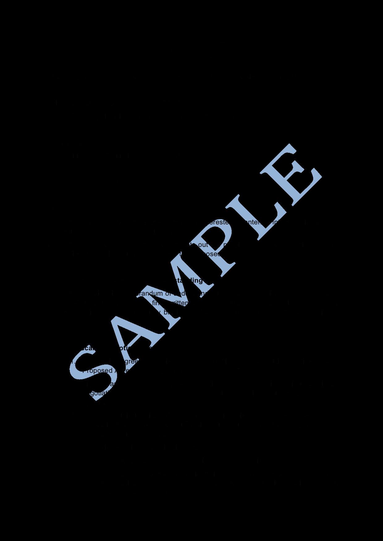 Memorandum Of Agreement Templates Memorandum Of Understanding Sample Lawpath