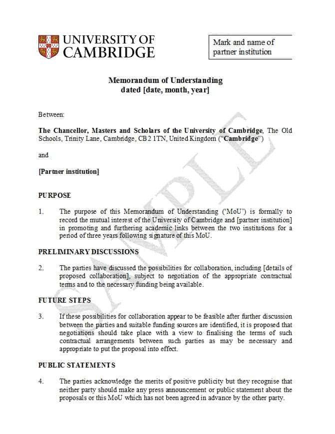 Memorandum Of Understanding Sample 50 Free Memorandum Of Understanding Templates [word]