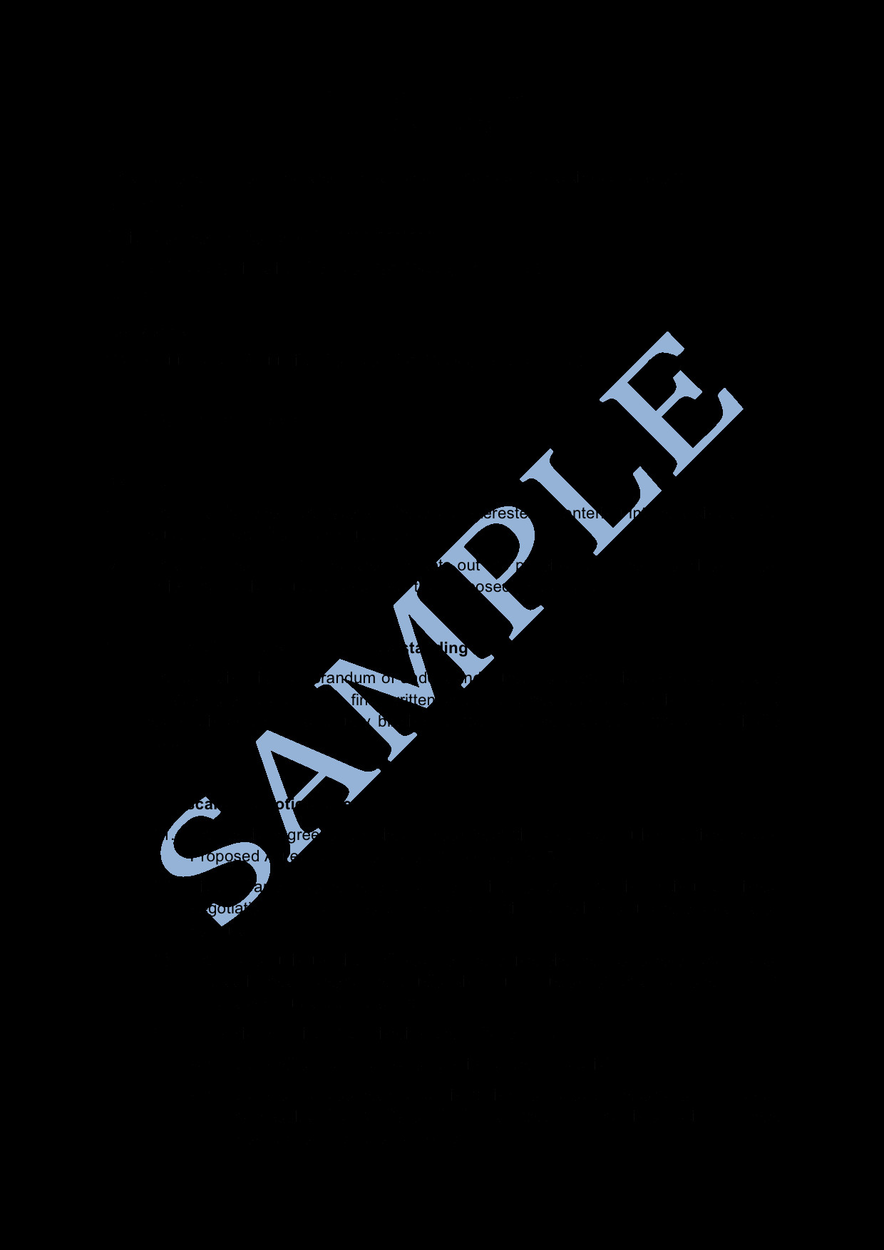 Memorandum Of Understanding Sample Memorandum Of Understanding Sample Lawpath
