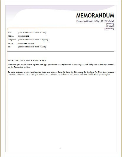 Memorandum Templates for Word 24 Free Editable Memo Templates for Ms Word