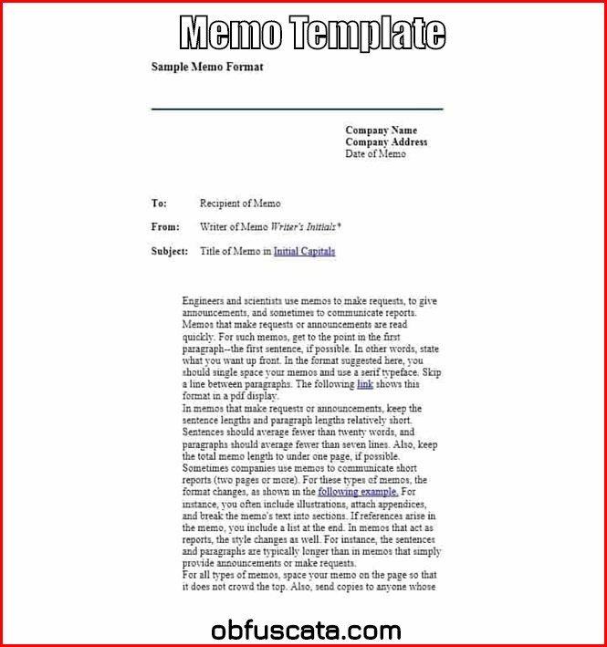 Memorandum Templates for Word Memo Template