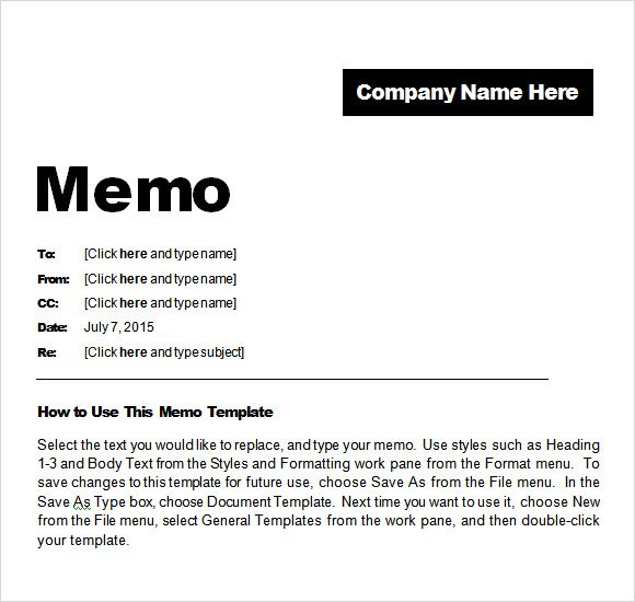 Memorandum Templates for Word Memo Template Word