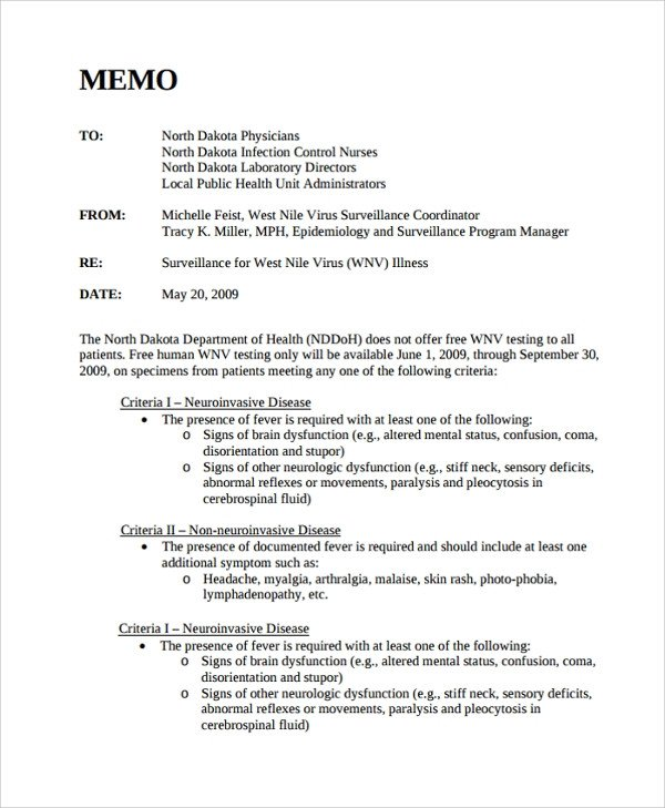 Memorandum Templates for Word Sample Memo format 26 Documents In Pdf Word