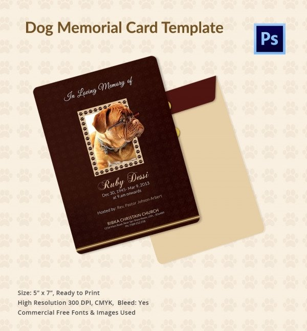 Memorial Card Template Free Download 31 Funeral Program Templates – Free Word Pdf Psd