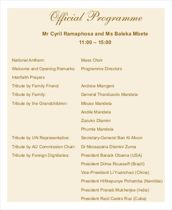 Memorial Services Program Template 17 Funeral Program Templates
