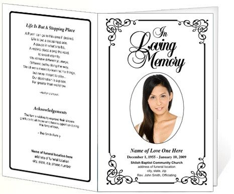 Memorial Services Program Template 214 Best Creative Memorials with Funeral Program Templates