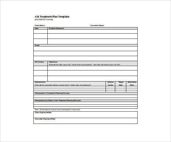 Mental Health Treatment Plan Template Psychotherapy Treatment Plan Template
