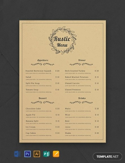 Menu Template Free Download 341 Free Menu Templates [download Ready Made Samples