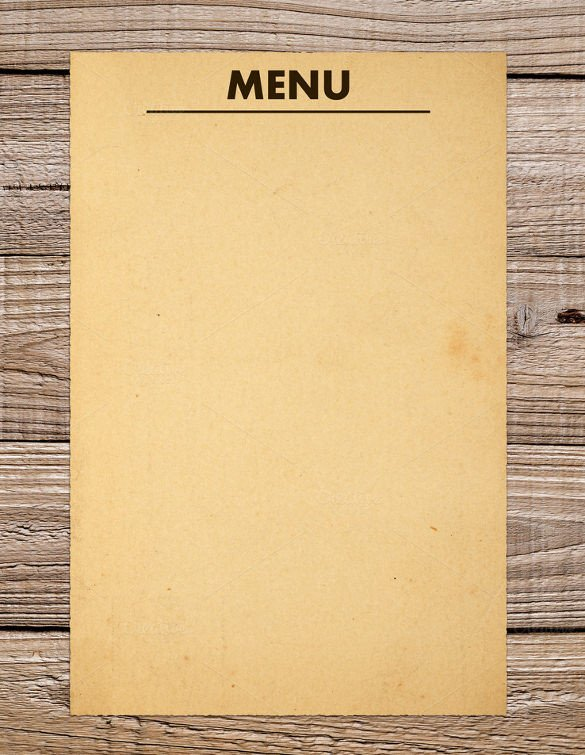 Menu Template Free Download 37 Blank Menu Templates Pdf Ai Psd Docs Pages