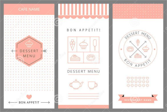 Menu Template Free Download Dessert Menu Templates – 21 Free Psd Eps format Download