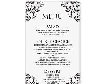 Menu Template Free Download Pin by Jennifer Burris On Printables