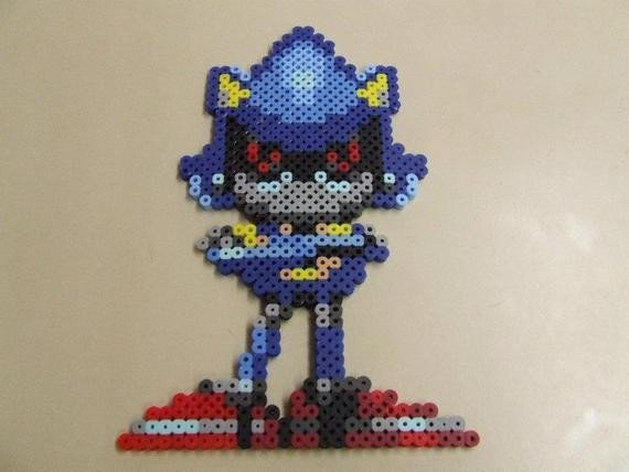 Metal sonic Pixel Art Items Similar to Metal sonic Pixel Art Bead Sprite On Etsy
