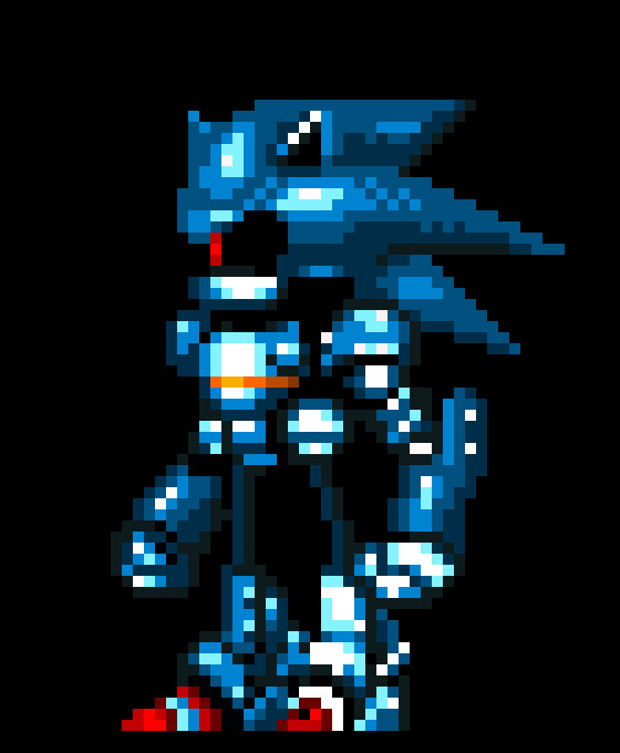 Metal sonic Pixel Art Metal sonic Design