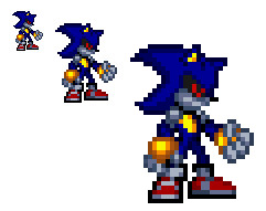 Metal sonic Pixel Art Metal sonic Mk2 by Tfpivman On Deviantart