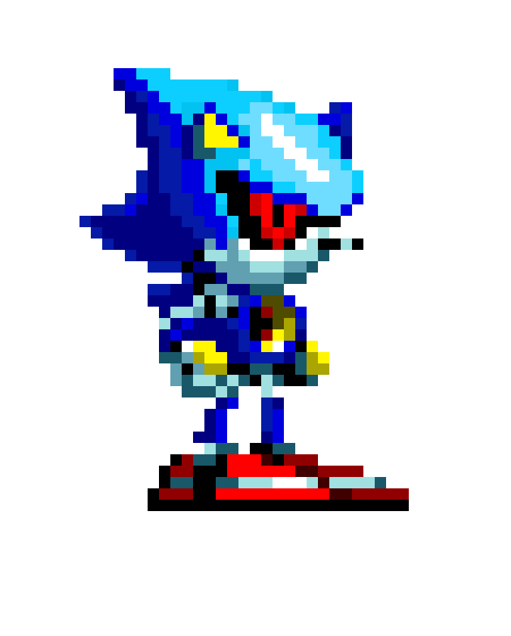 Metal sonic Pixel Art Metal sonic Strrrange isn T It