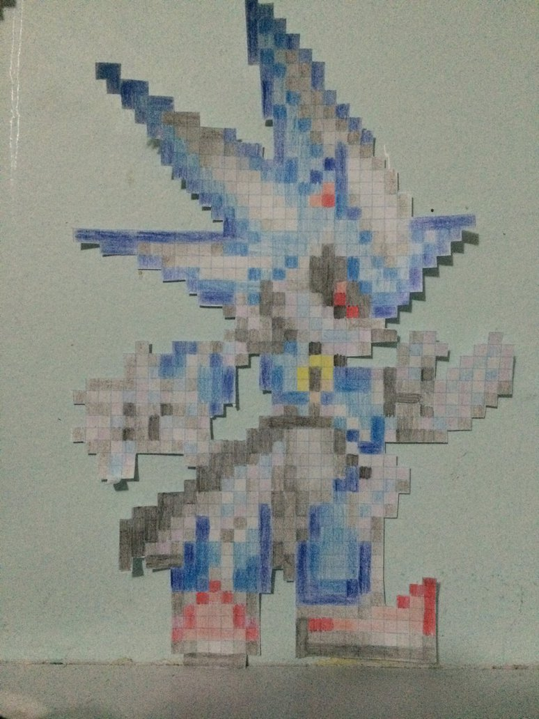 Metal sonic Pixel Art Neo Metal sonic Pixel Art by thejackedex On Deviantart