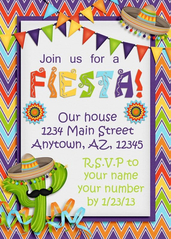 "Mexican Fiesta Invitation Templates Free Best 25 ""fiesta Invites"" Images On Pinterest"