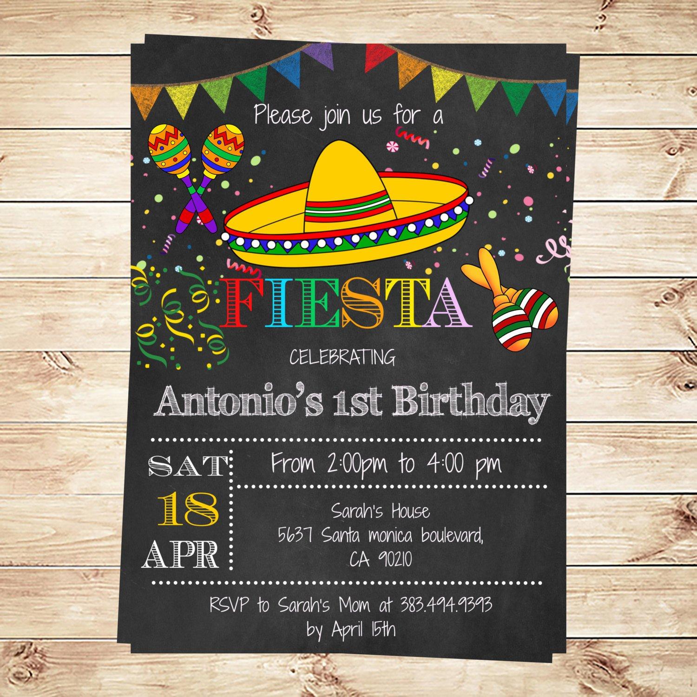 Mexican Fiesta Invitation Templates Free Birthday Mexican Fiesta Party Invitations Printable