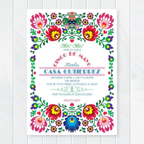 Mexican Fiesta Invitation Templates Free Cinco De Mayo Invitations Mexican Fiesta Invites Fiesta