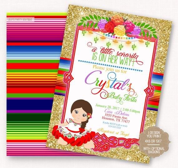 Mexican Fiesta Invitation Templates Free Fiesta Baby Shower Fiesta Mexican Baby Fiesta Invite Mexican