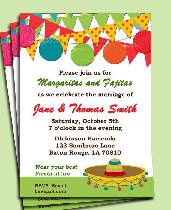 Mexican Fiesta Invitation Templates Free Fiesta Party Invitation Printable or Printed with Free