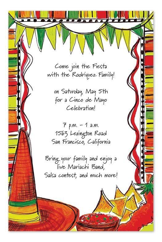 Mexican Fiesta Invitation Templates Free Mexican Fiesta by Invitation Consultants