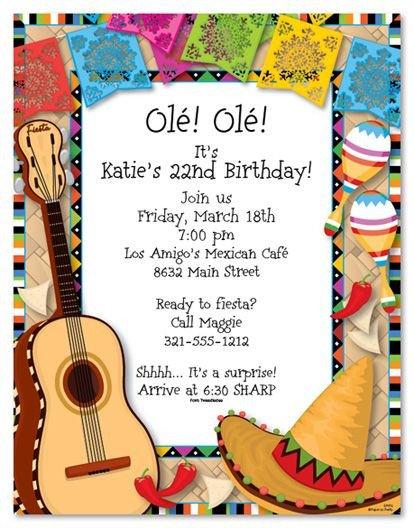 Mexican Fiesta Invitation Templates Free Mexican Fiesta Invitations