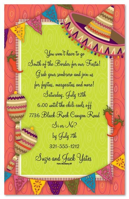 Mexican Fiesta Invitation Templates Free Mexican Parties