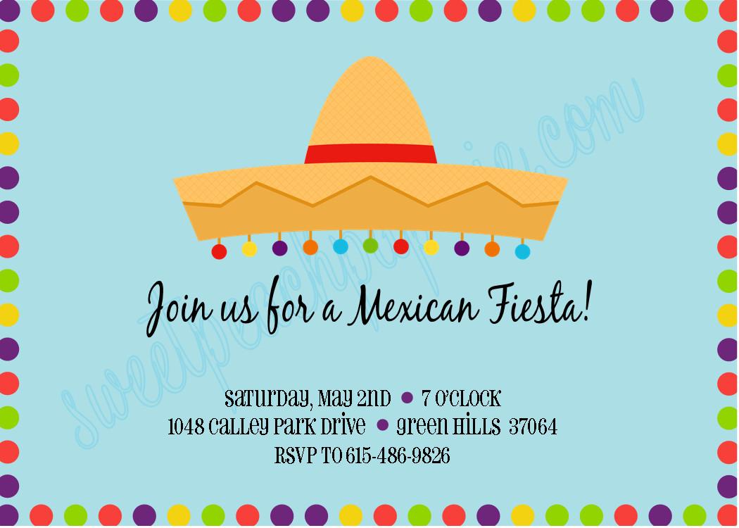 Mexican Fiesta Invitation Templates Free the Sweet Peach Paperie Mexican Fiesta Invitations