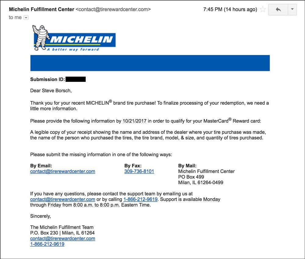 Michelin Rebate form Pdf Michelin Tire Rebate form September 2018