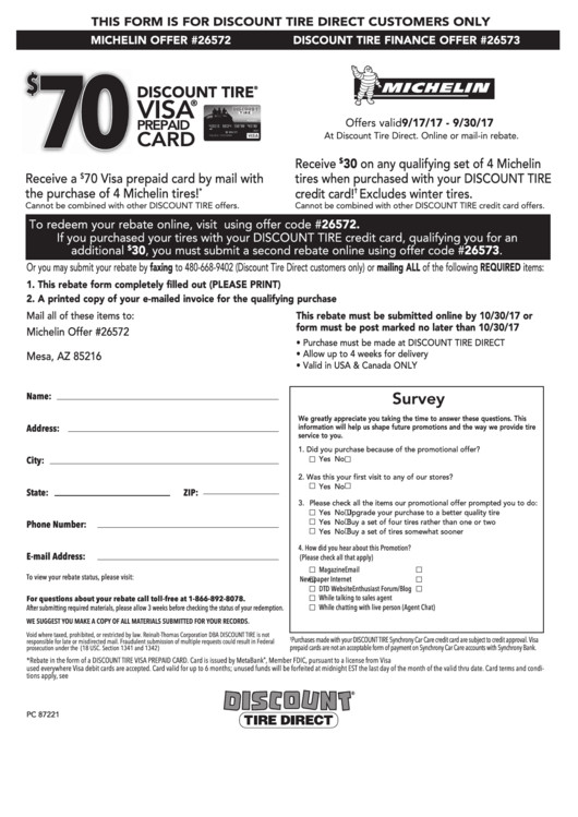 Michelin Rebate form Pdf top 5 Michelin Rebate form Templates Free to In