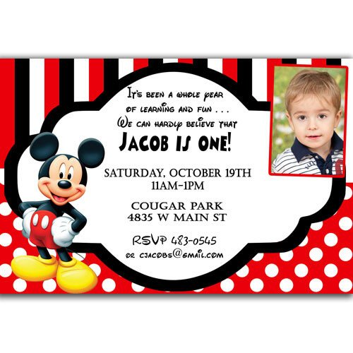 Mickey Mouse Birthday Invitations Template Free Printable Mickey Mouse Invitatons Birthday